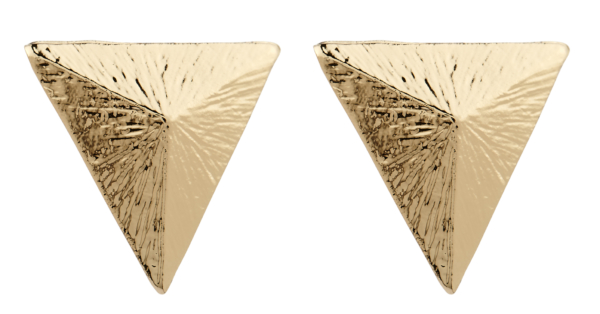 Clip On Earrings - Beth - gold triangle vintage style stud earring