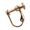 Clip On Earrings - Billie B - gold stud earring with black enamel