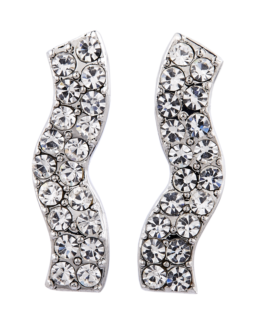 Clip on earrings - Mandy S - silver earring with clear crystals