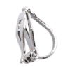 Clip On Earrings - Bria S - silver earring with crystals & drop hoops