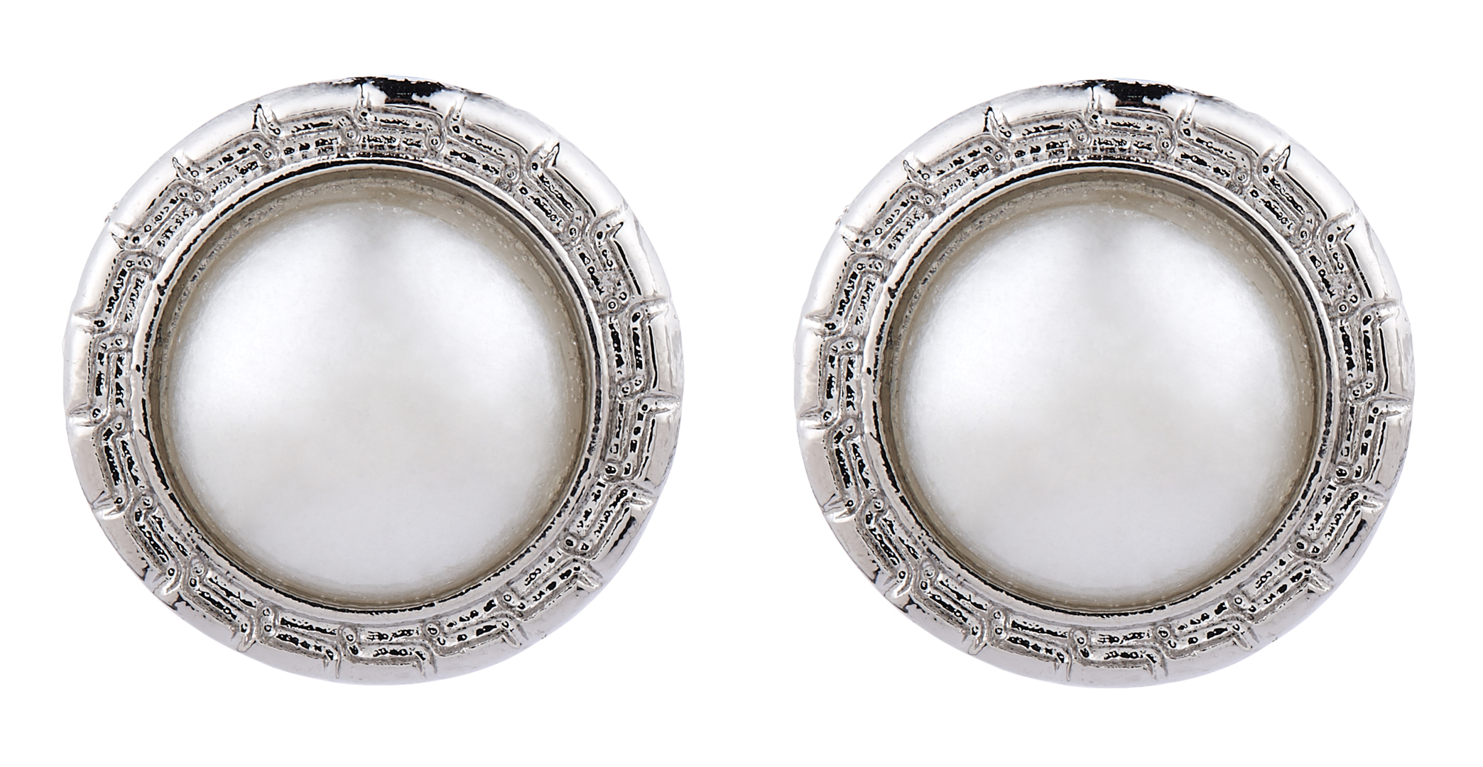 Clip On Earrings - Wonda - silver stud earring with a central pearl