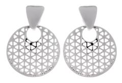 Clip On Earrings - Asia S - silver luxury drop earring
