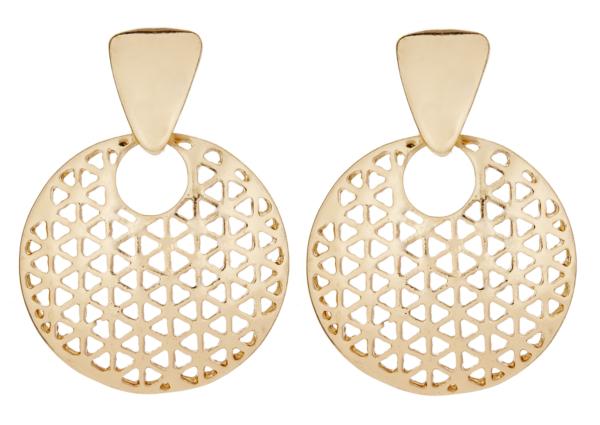 Clip On Earrings - Asia G - gold luxury drop earring
