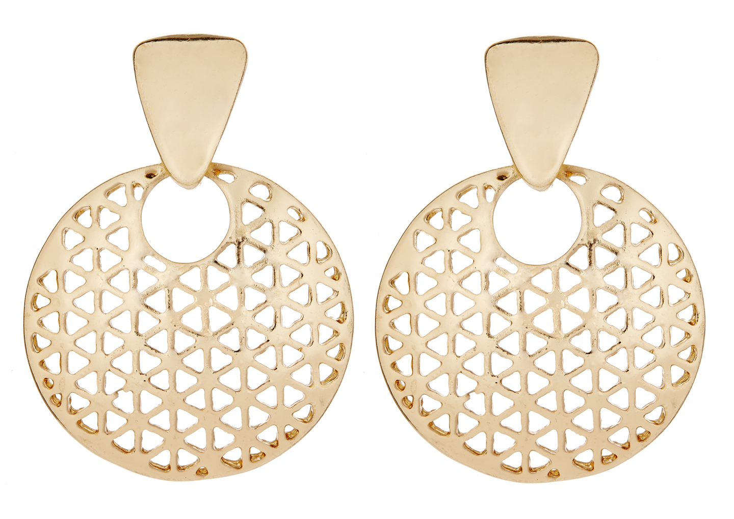 Clip On Earrings - Asia G - gold luxury drop earring