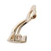 Clip On Earrings - Cat G - gold earring with diamante strands