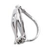 Clip On Earrings - Bloom - silver drop earring with a black stone