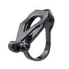 Clip On Earrings - Dara - gunmetal grey earring with black crystals