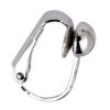 Clip On Earrings - Kadin S - brushed silver drop earring