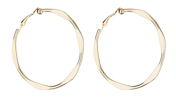 Clip On Earrings - Demi - gold hoop earring