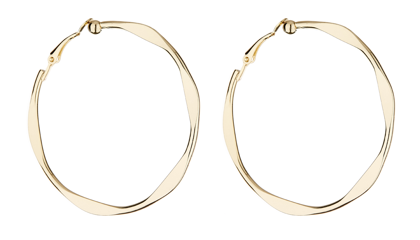 Clip On Earrings - Demi - gold hoop earring