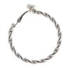 Clip On Earrings - Dawn S - silver hoop earring in a twisted rope design