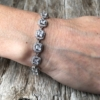 Silver luxury Bracelet – lobster clasp with sparkling Cubic Zirconia Stones and crystals – Nads
