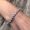 Silver Tennis Bracelet – lobster clasp with Cubic Zirconia Stones – Nava