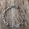 Silver linked bracelet with clear crystals – Navit