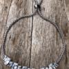 Silver strand Bracelet – adjustable sliding clasp with Cubic Zirconia Stones – Naya