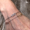 Infinity Friendship Bracelet – fine double chain with Cubic Zirconia crystals – Nayma