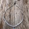 Silver Bracelet – adjustable sliding clasp with a drop Cubic Zirconia stone – Nea