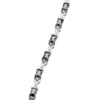 Bracelet - silver with black Cubic Zirconia Stones and clear crystals - Nasnan