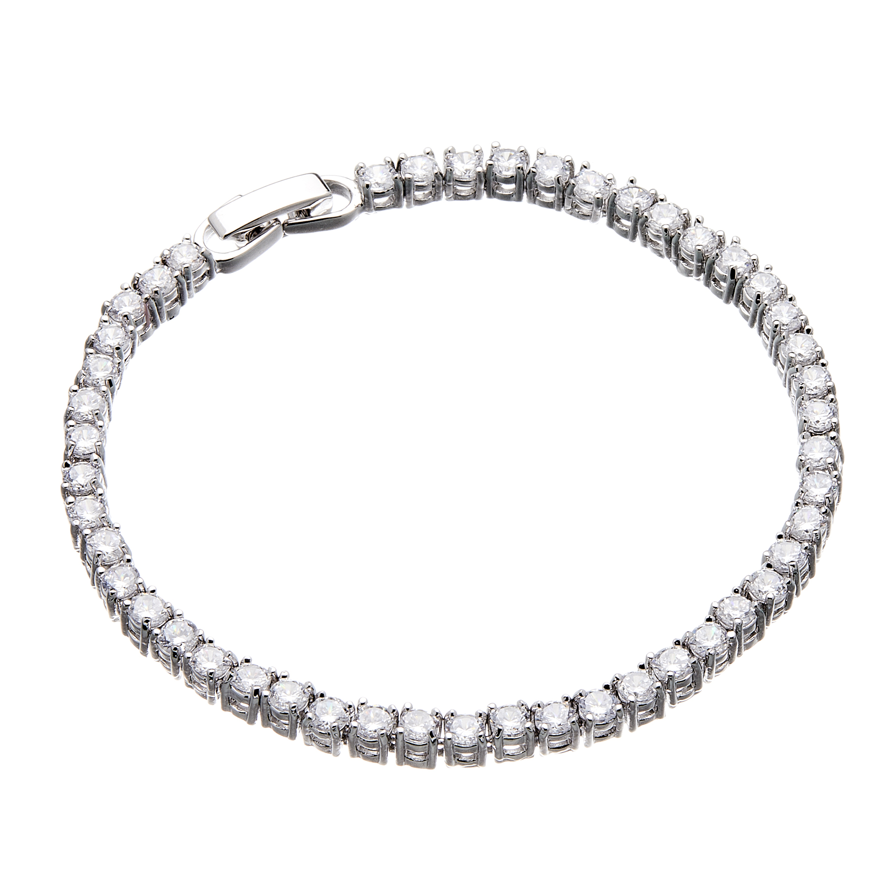 Silver Tennis Bracelet with clear crystals - Nedi