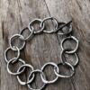 Silver T bar Bracelet with linked connecting circles – Jalen S
