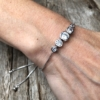 Silver adjustable Bracelet with five round CZ crystals – Netty