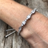 Silver adjustable Bracelet with square and round crystals – Nin