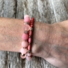 Set of two Bracelets with pink and champagne gold beads – Yori P37-36