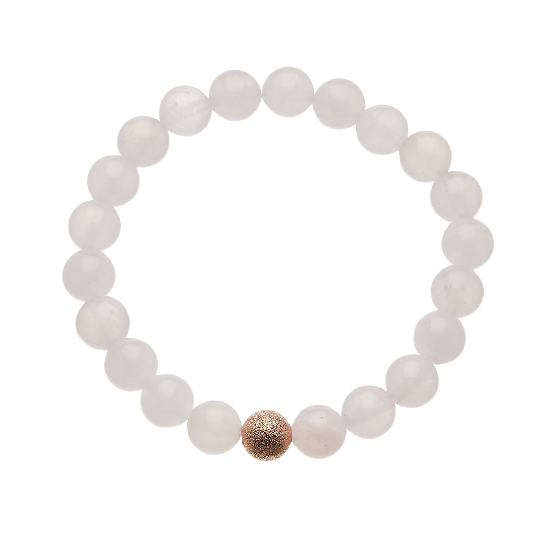 Pink jade beaded Bracelet with a rose gold bead - Rae P16