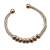 Bracelet with pink leather strands and sliding rose gold beads - Rhoda P