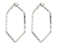 Clip On Hoop Earrings - Esi S - silver hoops
