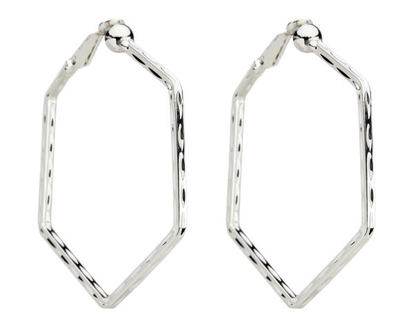 Clip On Hoop Earrings - Esi S - silver hoops