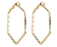 Clip On Hoop Earrings - Esi G - gold hoops