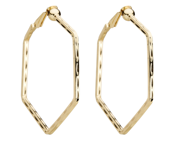 Clip On Hoop Earrings - Esi G - gold hoops